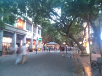 Café and restaurant street in central Guangzhou