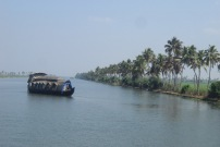 House boat on the backwaters
