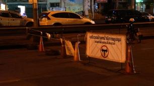 Road block at Asok