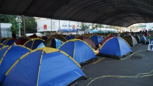 Inside protesters' camp at Asok