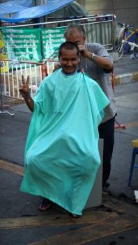 Street-side barber