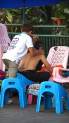 Street-side massage parlour