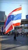 Thai flag at Asok