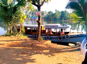 Boat jetty in front of our homestay