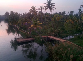 Sunset at the backwaters