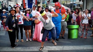 Wild dancing at Asok