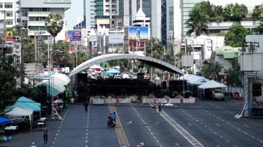 Protesters' camp at Asok